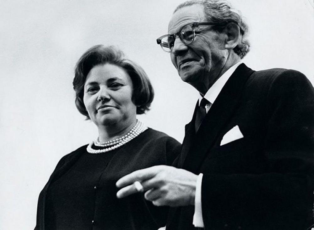 Мессинг с женой